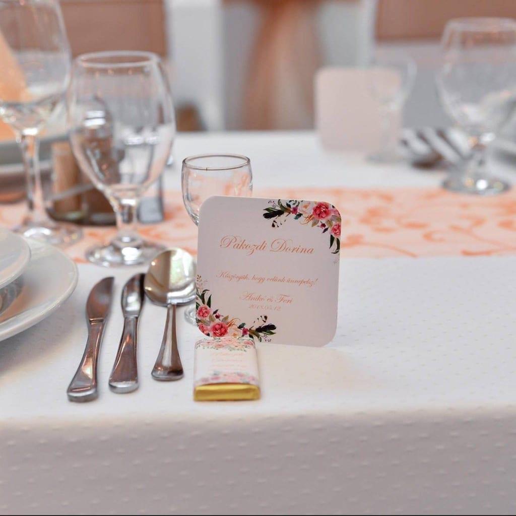 esküvői poháralátét köszönetajándék