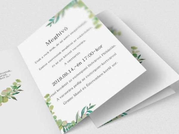 Grafikus esküvői meghívók
