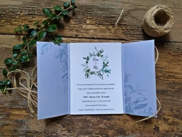 szalagos esküvői meghívó