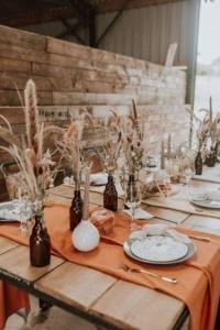 bohém  esküvői dekoráció