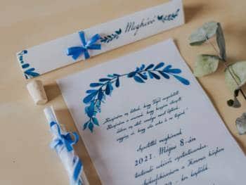 kémcsöves esküvői meghívó