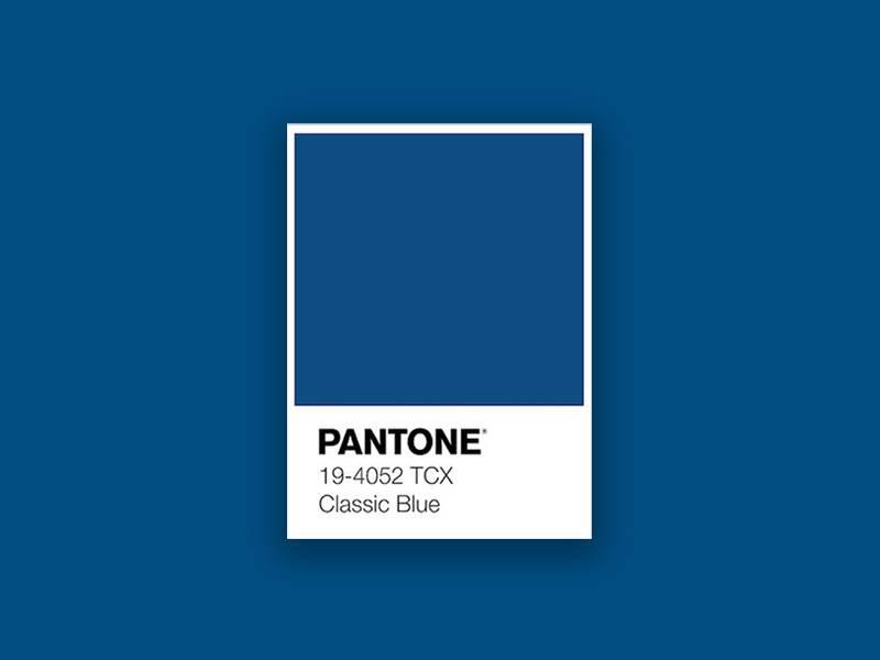 pantone kék