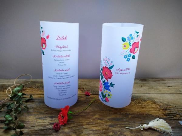 esküvői menühenger