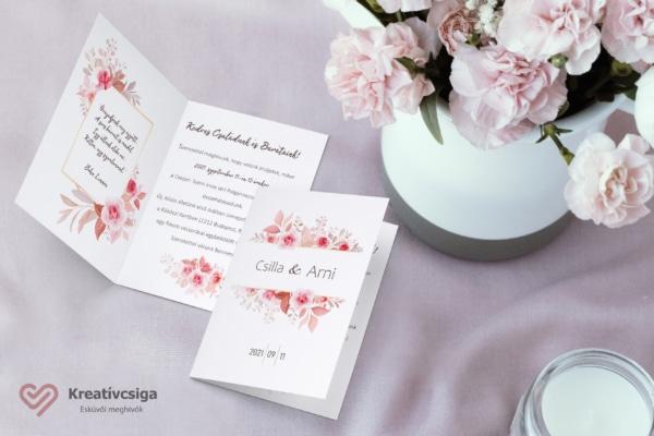 grafikus esküvői meghívó
